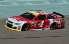 Kevin Harvick, driver of the #4 Budweiser Chevrolet, practices for the NASCAR Sprint Cup Series Ford EcoBoost 400 at Homestead-Miami Speedway in Homestead, Florida. - Photo Credit: Robert Laberge/Getty Images