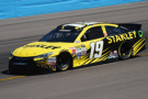 2015 NSCS Driver Carl Edwards on track in the No. 19 Stanley Toyota Camry - Photo Credit: Rainier Ehrhardt/Getty Images