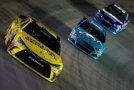 Matt Kenseth, driver of the #20 Dollar General Toyota, leads a pack of cars during the NASCAR Sprint Cup Series Food City 500 at Bristol Motor Speedway on April 19, 2015 in Bristol, Tennessee. - Photo Credit: Jeff Zelevansky/Getty Images
