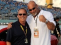 Actor/Professional Wrestler, Bil Goldberg (Right) Poses with Pace car/Former NASCAR Driver Brett Bodine (Left) - Photo Credit: Rusty Jarrett/Getty Images