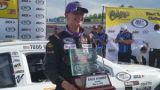 Todd Gilliland, son of NASCAR driver David Gilliland wins the Menards 200 at Toledo Speedway in his first career ARCA Racing Series presented by Menards start