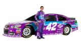 2015 NSCS Driver, Kyle Larson, stands next to the No. 42 Viva Vantage Chevrolet SS