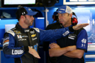 2015 NSCS Driver Jimmie Johnson and his Crew Chief Chad Knaus - Photo Credit: Nick Laham/Getty Images