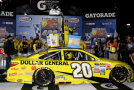 Matt Kenseth, driver of the #20 Dollar General Toyota, celebrates in Victory Lane after winning the NASCAR Sprint Cup Series Federated Auto Parts 400 at Richmond International Raceway on September 12, 2015 in Richmond, Virginia. - Photo Credit: Jerry Markland/Getty Images