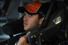 Daniel Suarez, driver of the #18 ARRIS Toyota, sits in his car during practice for the NASCAR Xfinity Series Furious 7 300 at Chicagoland Speedway on September 18, 2015 in Joliet, Illinois. - Photo Credit: Josh Hedges/Getty Images