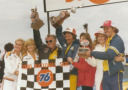 Dale Earnhardt in Victory Lane after the 1980 National 500 at Charlotte Motor Speedway (CMS archives)