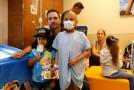 Jimmie Johnson visits children at the University of Kansas Hospital Pediatric Unit. - Photo Credit: Kansas Speedway