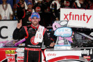 Austin Dillon, driver of the #33 Rheem Chevrolet, celebrates in victory lane after winning the NASCAR XFINITY Series Drive for the Cure 300 at Charlotte Motor Speedway on October 9, 2015 in Charlotte, North Carolina. - Photo Credit: Sean Gardner/Getty Images
