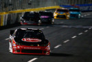 Austin Dillon, driver of the #33 Rheem Chevrolet, leads a pack of cars during the NASCAR XFINITY Series Drive for the Cure 300 at Charlotte Motor Speedway on October 9, 2015 in Charlotte, North Carolina. - Photo Credit: Jonathan Ferrey/Getty Images