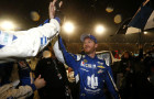 Dale Earnhardt Jr., driver of the #88 Nationwide Chevrolet, celebrates on pit road after winning the rain-shortened NASCAR Sprint Cup Series Quicken Loans Race for Heroes 500 at Phoenix International Raceway on November 15, 2015 in Avondale, Arizona. - Photo Credit: Jonathan Ferrey/Getty Images